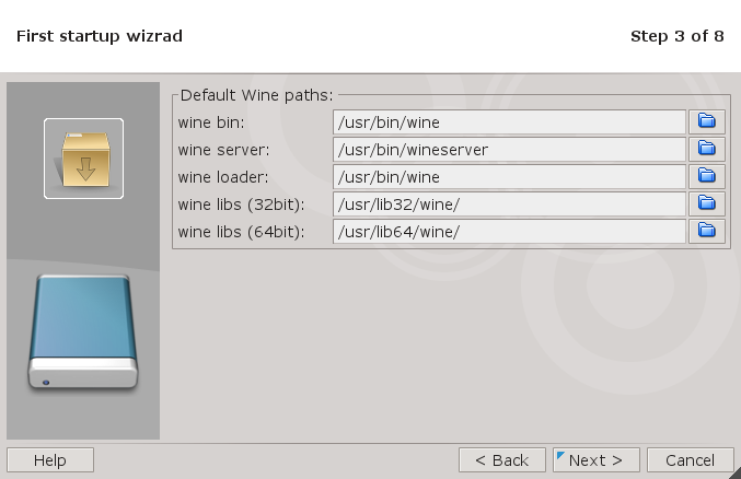 Wine Path Wizard Screen